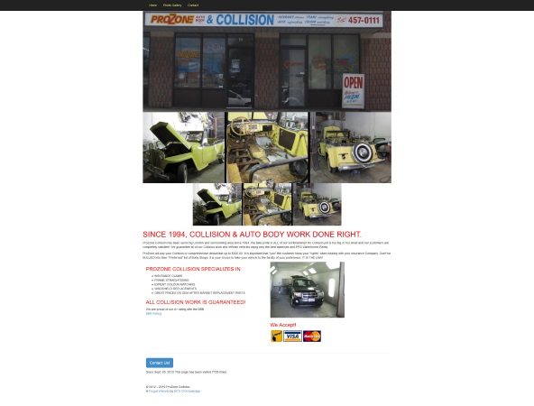 Prozone Collision Website